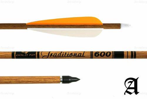 Goldtip Traditional Carbonpfeil - Orange / Weiß